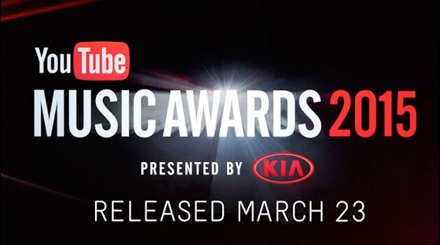 nominados y ganadores a Youtube Music Awards' 2015