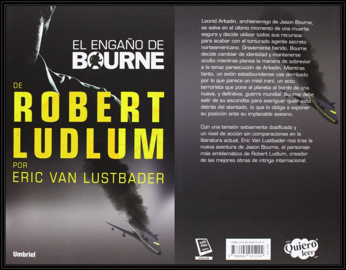 El Engaño de Bourne Portada y Contraportada.