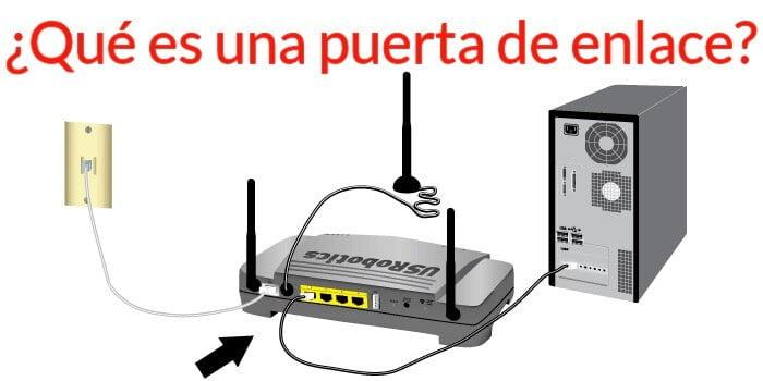 qué es la puerta de enlace router modem