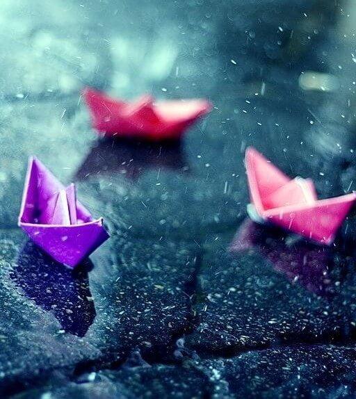 Barcos de papel - te quiero