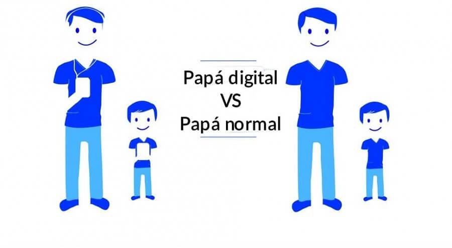 papa digital vs un padre normal