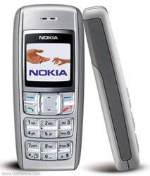Manteniendo a Nokia a la cabeza durante años el nokia 1600  con pantalla a color es el éxito del 2006