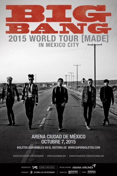 BIG BANG  MADE World Tour Arena Ciudad de México