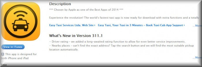 descargar easy taxi apple iphone