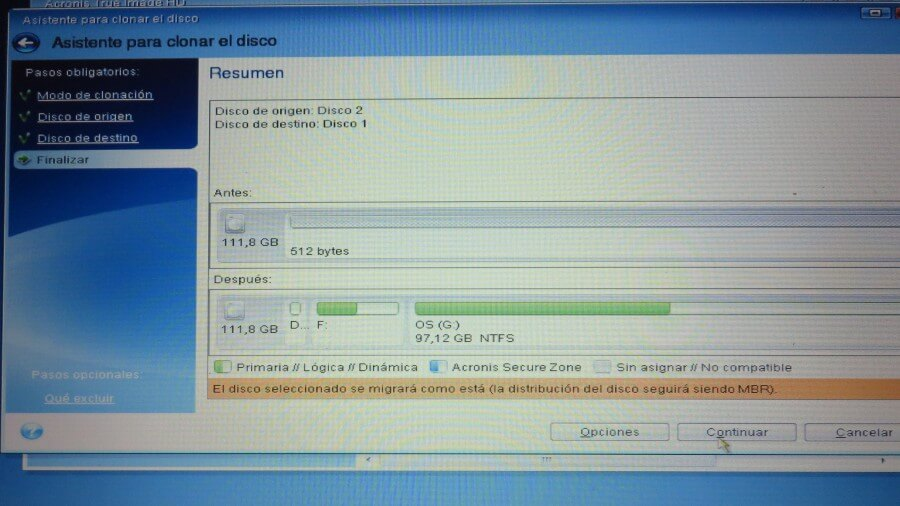 acronis clone hdd to ssd