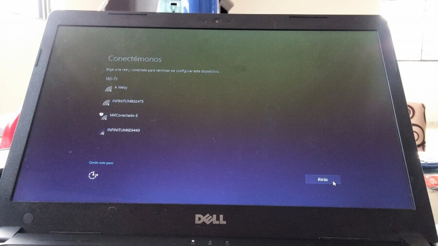 windows 10 primer inicio