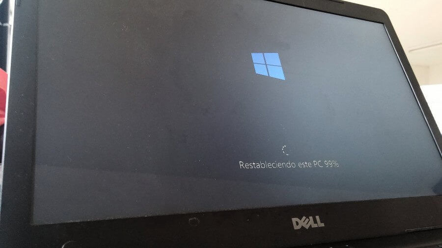 windows 10 restaurar 99 porciento