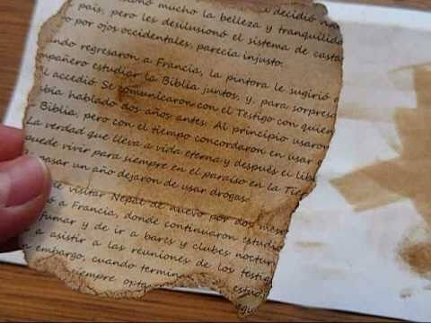 como hacer una carta antigua con cafe