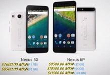 precios nexus 5x y nexus 6p