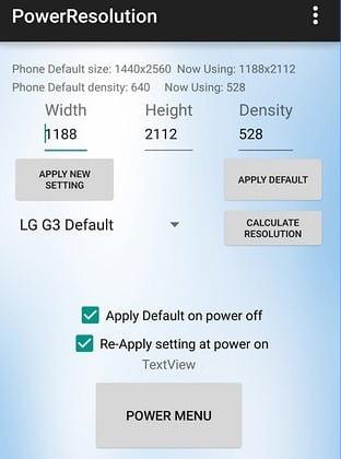 cambiar resolución de pantalla lg g3