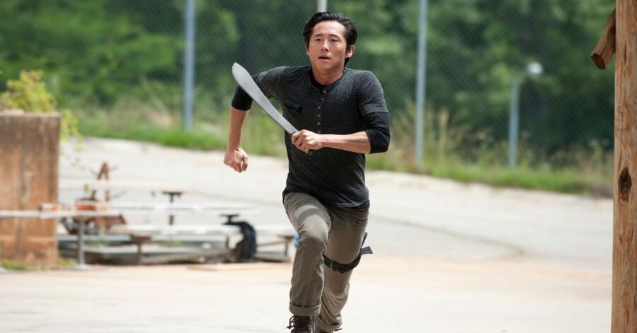 glenn the walking dead muerto