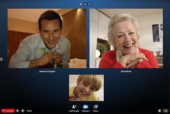 Skype vídeo llamada