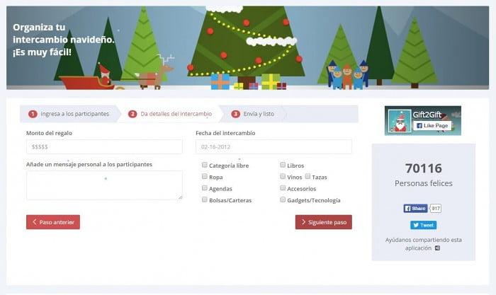 Detalles del intercambio en Gift2Gift navidad regalos