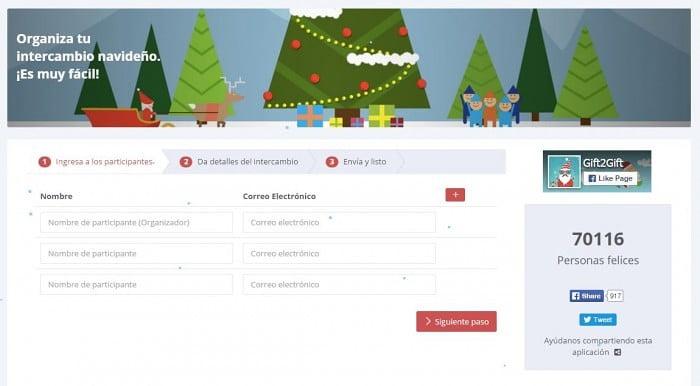 usa Gift2Gift para los regalos navideños en el intercambio