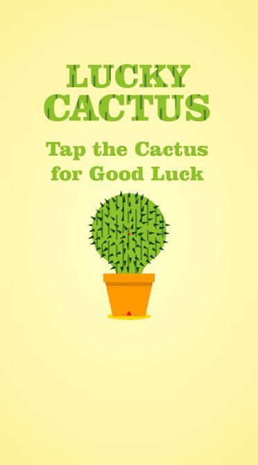 Lucky Cactus, para la buena suerte.