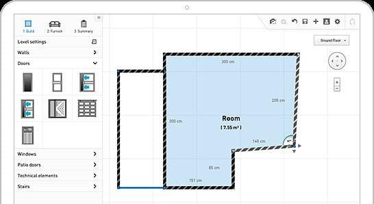 Diseñar un Piso plano 2D en home by me