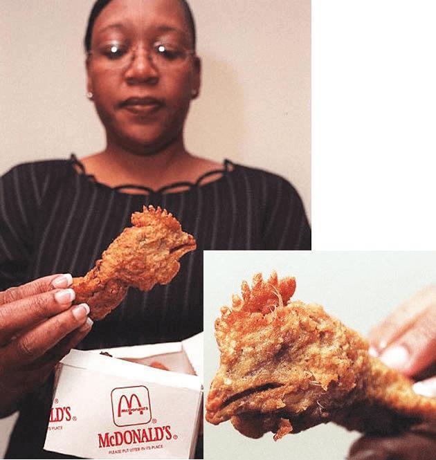 cabeza de pollo frita