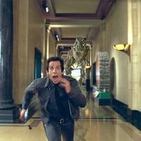 corriendo en museo