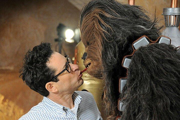 J.J. Abrams y Chewbacca