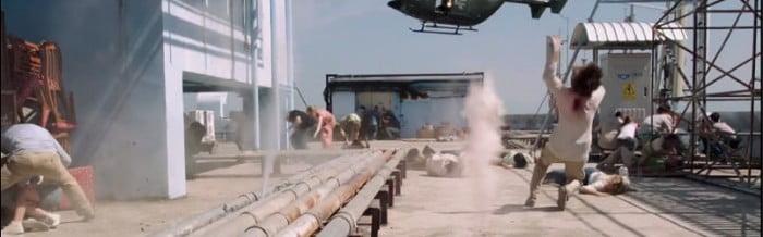 no scape helicopter hotel scene