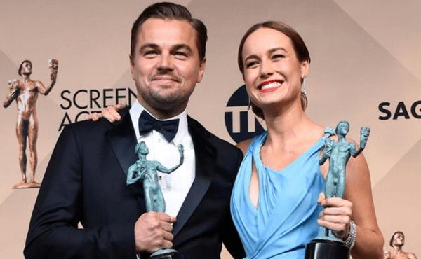 Leonardo DiCaprio y Brie Larson.