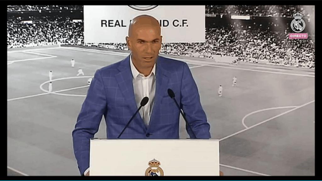 Rueda de prensa, presentación de Zidane.