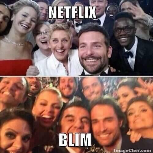 blim vs netflix representación gráfica