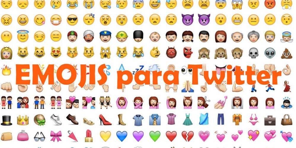 emojis para twitter en computadora