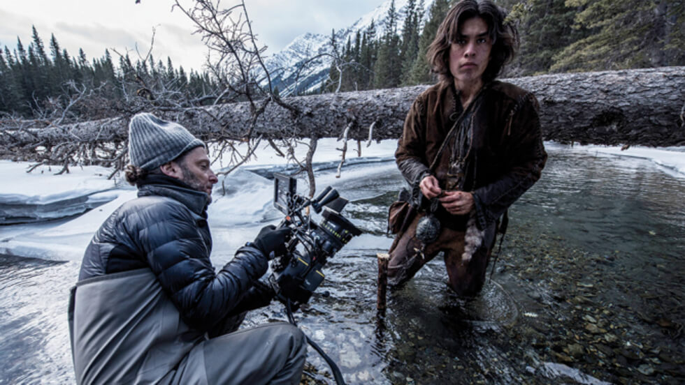 Emmanuel Lubezki en el set de The Revenant