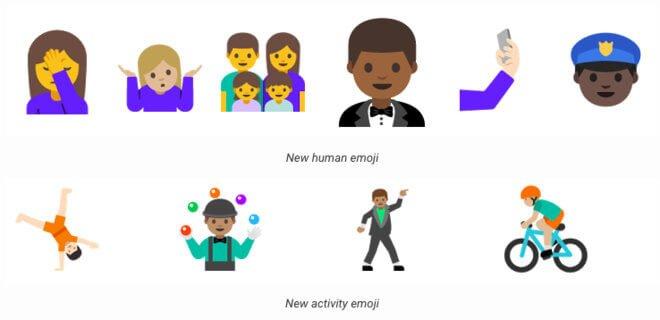 Emojis android N