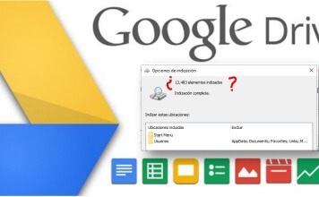 google drive no indexa archivos windows