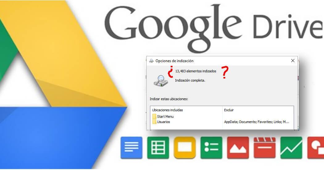 google drive no indexa archivos windows