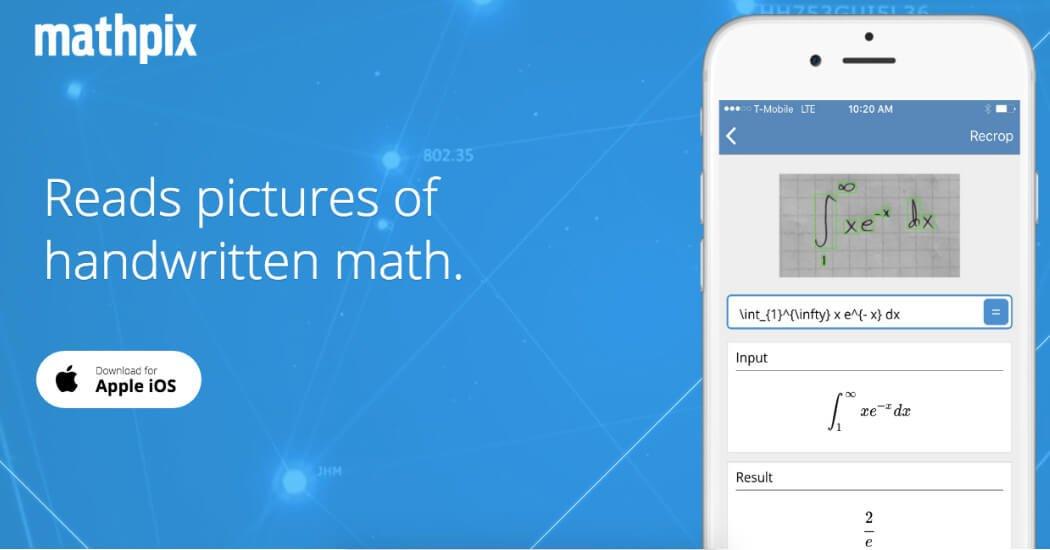 mathpix para resolver ecuaciones app ios