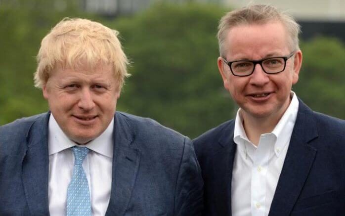 Boris Johnson y Michael Gove
