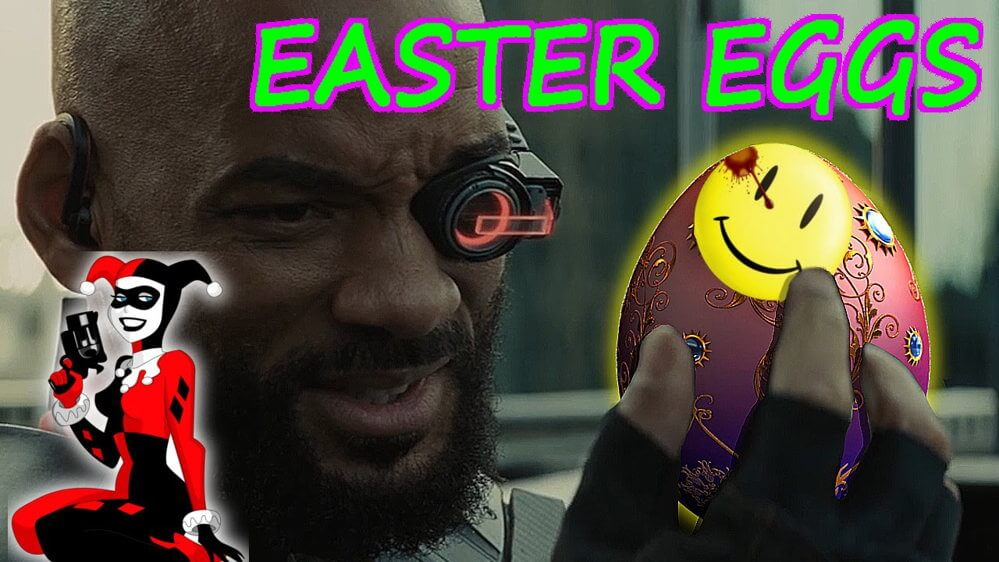 easter eggs suicide squad