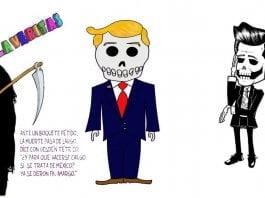 Calaveritas Día de Muertos para Enrique Peña Nieto y Donald Trump