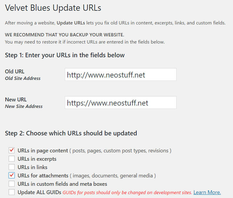 configurar-velvet-blues-update-urls