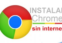 como instalar chrome google sin internet