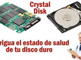 saber la vida util disco duro crystal disk