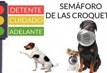 semáforo de las croquetas perros